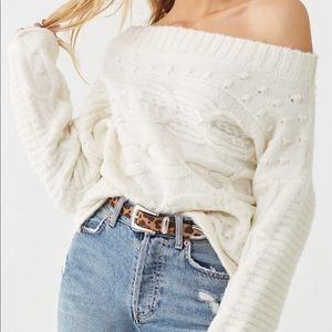 F21 Off the shoulder Sweater